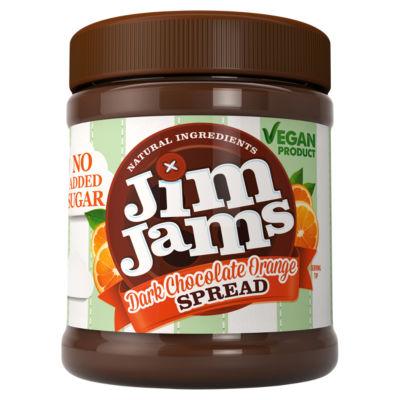 Jimjams Vegan No Added Sugar Dark Chocolate Orange Spread