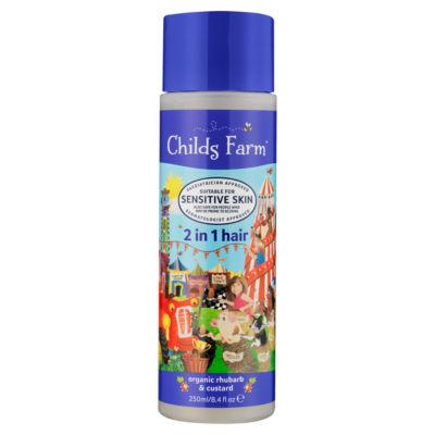 Childs Farm Organic Rhubarb & Custard 2 in 1 Shampoo & Conditioner