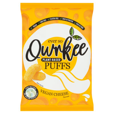 Qwrkee Plant Based Puffs Vegan Cheese Sharing Snacks