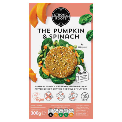 Strong Roots The Pumpkin & Spinach Burger