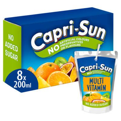Capri-Sun No Added Sugar Multi Vitamin Fruit Juices