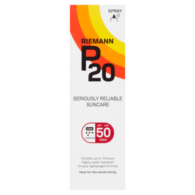 P20 SPF 50 High Once a Day Sun Protection Spray