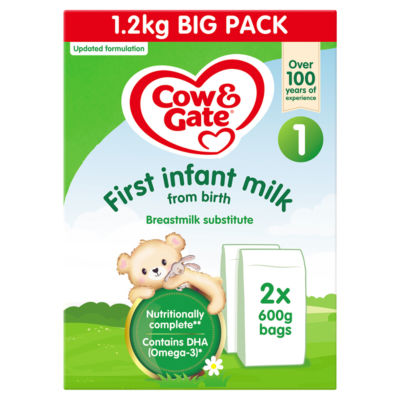 Cow & Gate 1 First Baby Milk Formula From Birth Big Pack