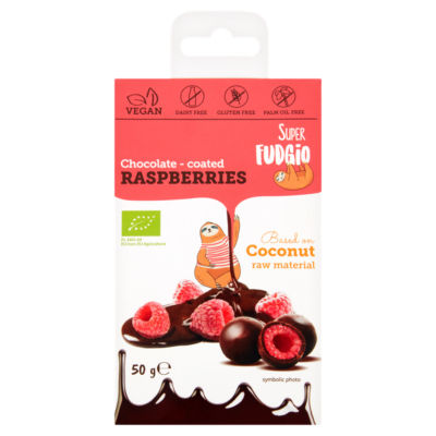Super Fudgio Organic Chocolate - Coated Raspberries