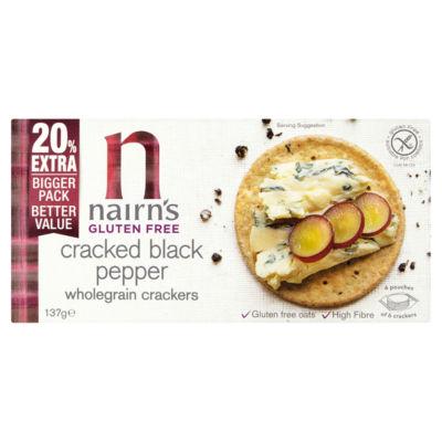 Nairn's Gluten Free Cracked Black Pepper Wholegrain Crackers