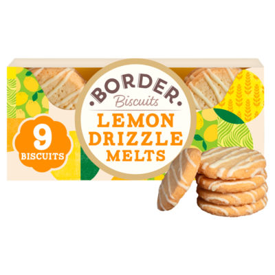 Border Beautifully Crafted Biscuits Lemon Drizzle Melts