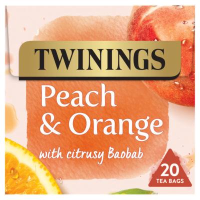 Twinings Peach & Orange Tea 20 Tea Bags