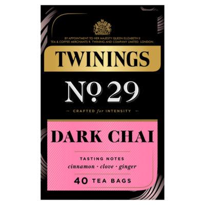 Twinings Dark Chai Tea, 40 Tea Bags