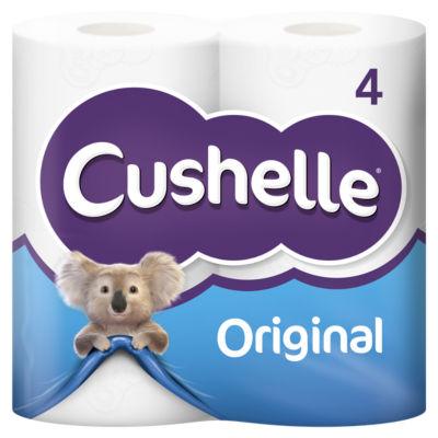 Cushelle White Toilet Roll 4 Rolls