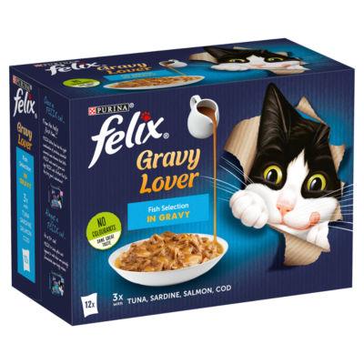 Felix As Good As It Looks Fish Selection in Gravy Adult Cat Food Pouches