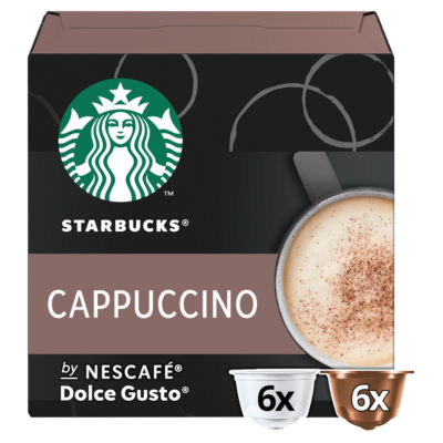 Starbucks by Nescafe Dolce Gusto Cappuccino Coffee Pods 12 Capsules