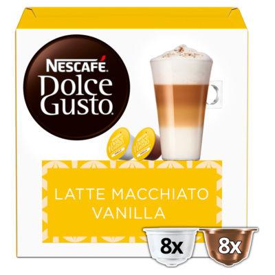 Nescafe Dolce Gusto Latte Macchiato Vanilla Coffee Pods 16 Capsules