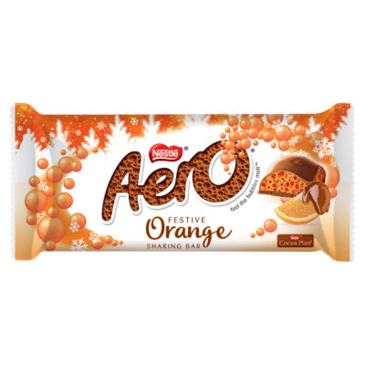 Aero Chocolate Orange Christmas Chocolate Bar