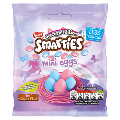 Smarties Unicorn Milk Chocolate Mini Eggs Pouch