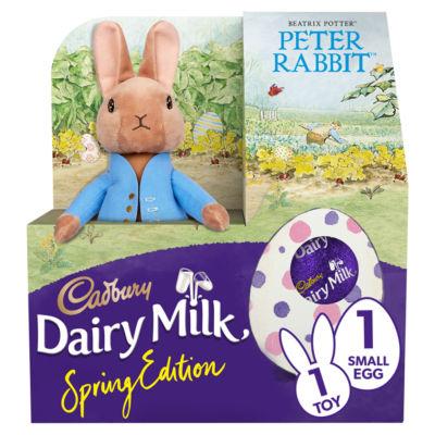 Cadbury Dairy Milk Spring Edition Peter Rabbit Toy & Easter Egg