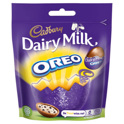 Cadbury Dairy Milk Miniature Oreo Chocolate Easter Egg Bag