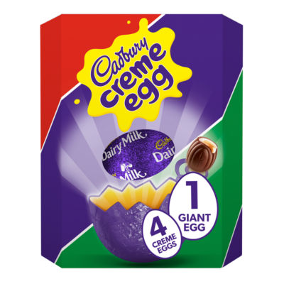 Cadbury Creme Egg Giant Chocolate Easter Egg with 4 Creme Eggs