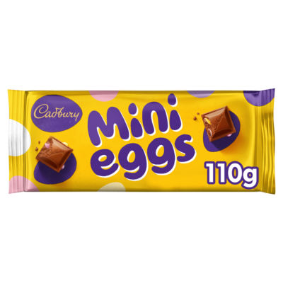 Cadbury Mini Eggs Inclusions Chocolate Bar