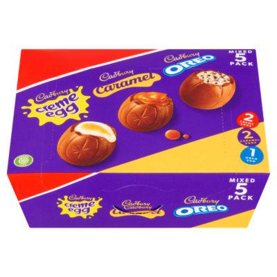 Cadbury Creme Egg, Caramel Egg & Oreo Egg Mixed Multipack