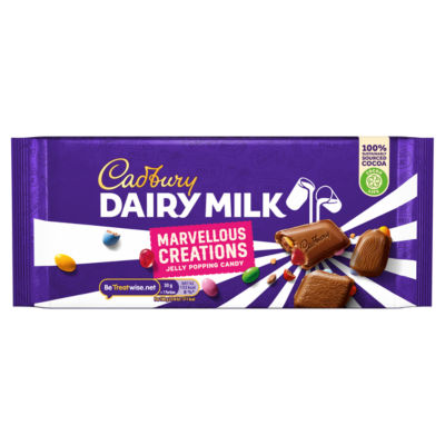 Cadbury Dairy Milk Marvellous Smashables Jelly Popping Chocolate Bar