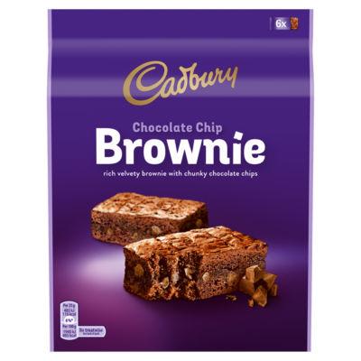 Cadbury Chocolate Chip Brownie 6 Pack