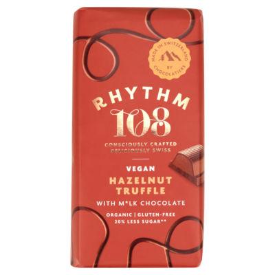 Rhythm 108 Swiss Vegan Hazelnut Truffle Bar with M'lk Chocolate