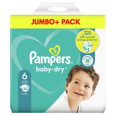 Pampers Baby-Dry Size 6 Nappies Jumbo+ Pack
