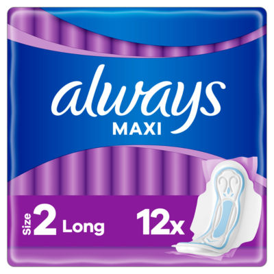 Always Maxi Long (Size 2) Sanitary Towels Wings