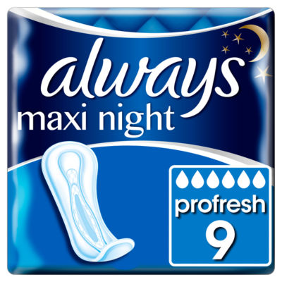 Always Maxi Profresh Night Sanitary Towels Without Wings