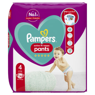 Pampers Active Fit Nappy Pants Size 4 Essential Pack