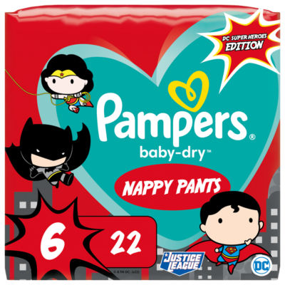 Pampers Baby-Dry Superhero Nappy Pants Size 6