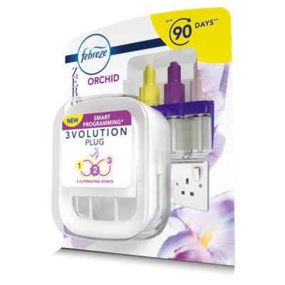 Febreze 3Volution ZERO% Air Freshener Plug-In Starter Kit Orchid