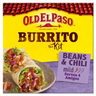 Old El Paso Mexican Hearty Beef & Bean Chilli Burrito Meal Kit