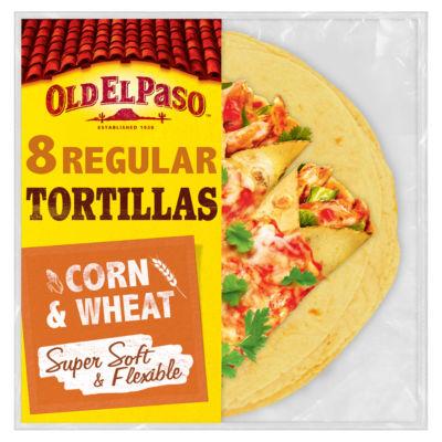 Old El Paso Mexican 8 Regular Super Soft Corn & Wheat Tortilla Wraps