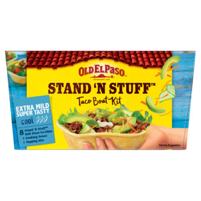 Old El Paso Mexican Stand 'N' Stuff Extra Mild Super Tasty Soft Taco Kit