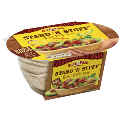 Old El Paso Mexican 8 Stand 'N' Stuff Soft Whole Wheat Tortillas