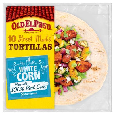 Old El Paso Mexicana Street Market 10 White Corn Tortilla Wraps