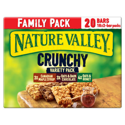 Nature Valley Crunchy Variety Pack Cereal Bars 10x2 Pack