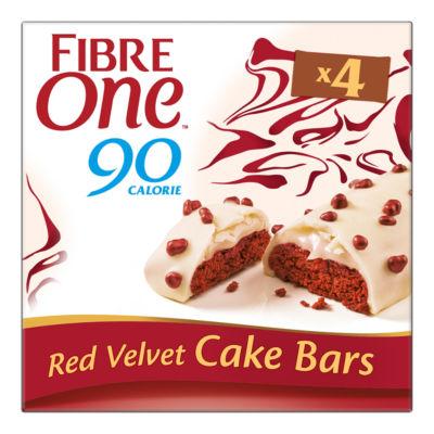 Fibre One 90 Calorie Red Velvet Cake Bars 4 Pack