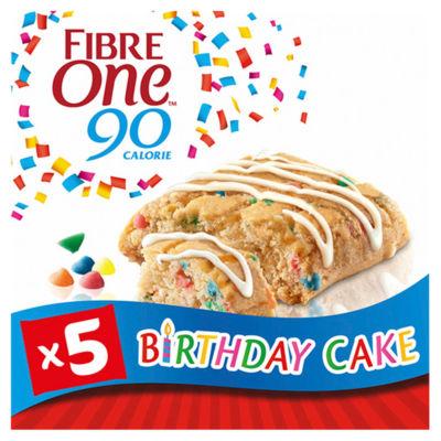 Fibre One 90 Calorie Birthday Cake Squares 5 Pack
