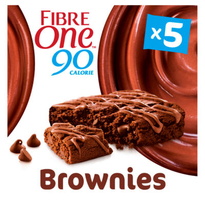 Fibre One 90 Calorie Chocolate Fudge Brownie Squares 5 Pack