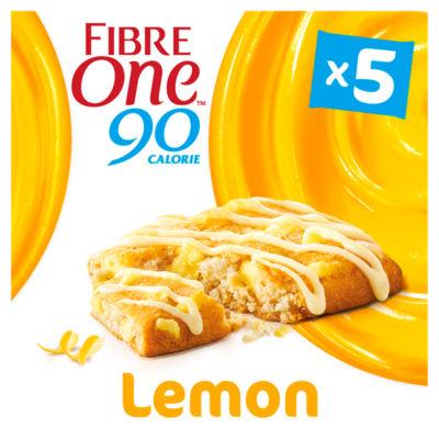 Fibre One 90 Calorie Lemon Drizzle Squares 5 Pack