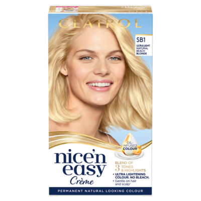 Nice'n Easy Permanent Hair Dye SB1 Ultra Light Natural Beach Blonde