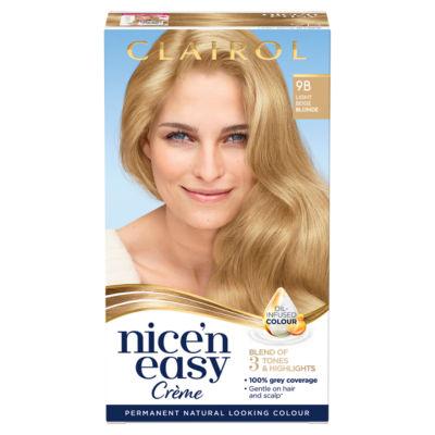 Nice'n Easy Permanent Hair Dye 9B Light Beige Blonde
