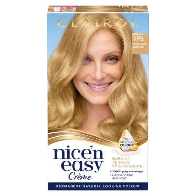 Nice'n Easy Permanent Hair Dye 9PB Light Pale Blonde