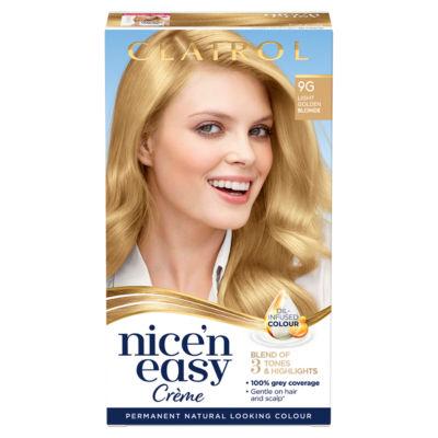 Nice'n Easy Permanent Hair Dye 9G Light Golden Blonde