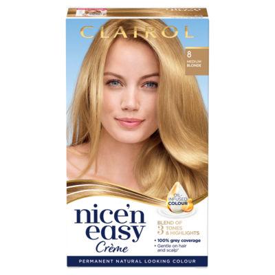 Nice'n Easy Permanent Hair Dye 8 Medium Blonde
