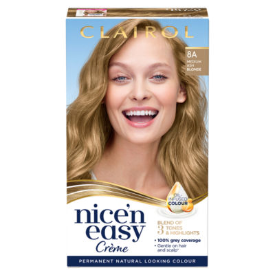 Nice'n Easy Permanent Hair Dye 8A Medium Ash Blonde