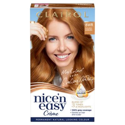 Nice'n Easy Permanent Hair Dye 8WR Golden Auburn