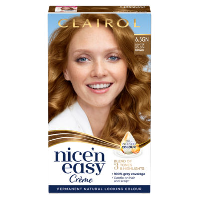 Nice'n Easy Permanent Hair Dye 6.5GN Lighter Golden Brown